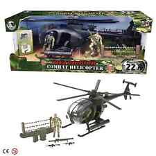 Fuerzas de paz Mundial de Combate Militar Ejército Helicóptero Juguete Con 2 Figuras De Acción