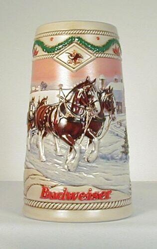 1996 Budweiser Holiday Stein CS273 Christmas beer mug American Homestead