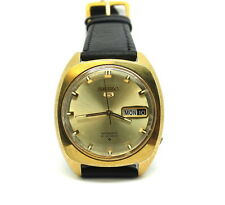 Vintage SEIKO (5) Automatic 21 Jewel Gold Toned Watch Japan J 6119 7100 R 7103