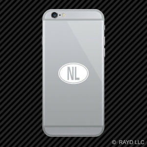 Details about (2x) Netherlands Oval Cell Phone Sticker Mobile country code  NL many colors