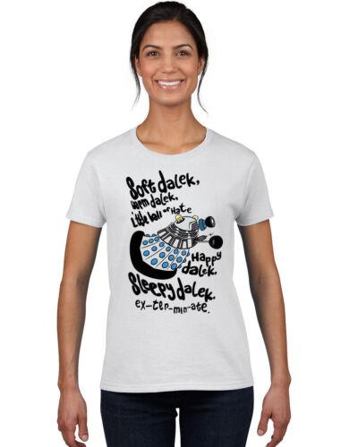 SOFT DALEK WARM DALEK T Shirt Ladies Tardis Dr Doctor Who Inspired