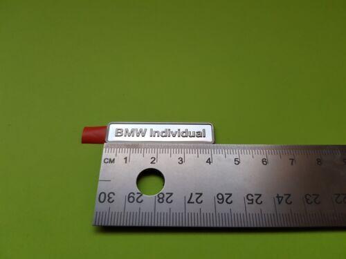 Original BMW Individual badge emblem 36137897226
