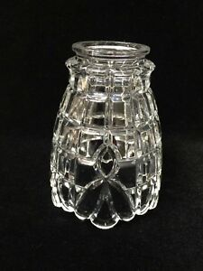 """Fits 3 3//4/"""" Vintage Clear w//Satin Frost Glass Fixture Lamp Shade 4 1//4/"""" High"""