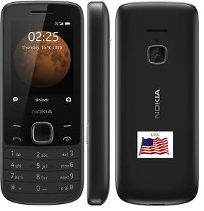 Nokia 225 Débloqué 4G Portable Senior Clapet Noir At&t T-Mobile Cricket Tracf