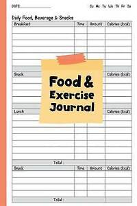 food and exercise journal fitness journal 6x9 perfect food and