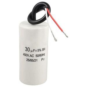2-cordon-cablee-30uF-450VAC-50-60Hz-CBB60-Demarrage-de-moteur-course-conden-O9C6