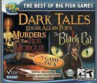 Dark Tales The Black Cat + Murders Rue Morgue Hidden Object Pc Game Cd-rom