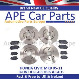 FITS-Honda-Civic-MK8-1-4-1-8-2-2-CDTI-05-11-frente-y-parte-trasera-Discos-De-Freno-amp-Almohadillas