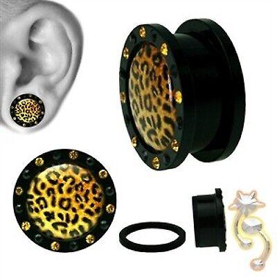 Pink Zebra Plugs Black Animal Plug Black Tunnel Gauge Body Jewelry Ear Screw