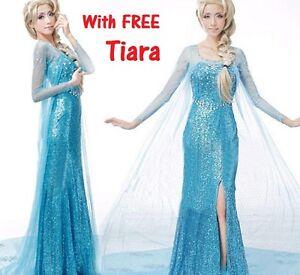 frozen elsa robe adulte costume robe fantaisie parti - Reine Neige