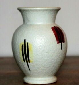 Scheurich-214-10-West-German-Pottery-Vase-1950-039-s-MCM-Export-Abstract