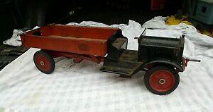 antique pressed steel toy keystone not buddy l dump truck. Black Bedroom Furniture Sets. Home Design Ideas