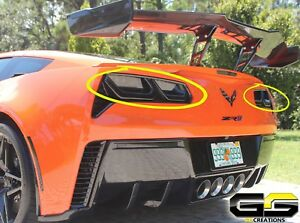Corvette C7 Zr1 >> Details About C7 Corvette Zr1 Rear Molded Smoked Taillight Covers Blackouts Tinted Look