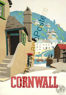 Cornwall 2GWR Great Western RailwayVintage PosterA1 A3 A2