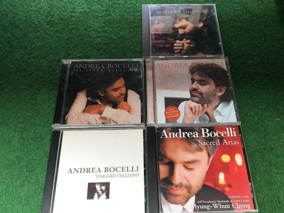 Andrea bocelli: Blandet 5 cd'er , andet