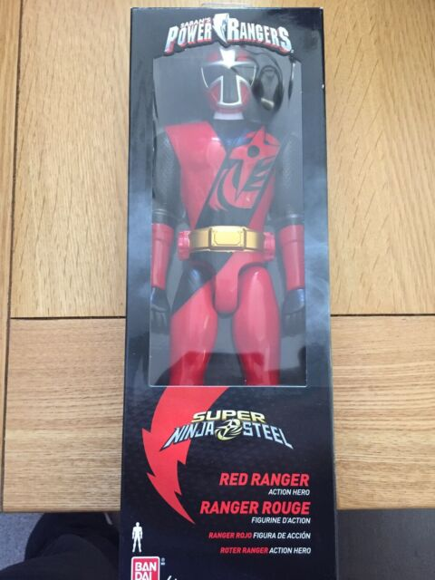 Power Rangers Ninja Steel 30cm Red Ranger Figure 12 NEW