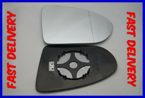 DUALIS 2007-2014 DOOR MIRROR GLASS WIDE ANGLE HEATED RIGHT FITS NISSAN QASHQAI