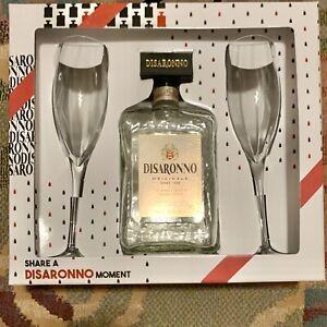 Glasses /& Box EMPTY Disaronno Amaretto wears TRUSSARDI Bottle