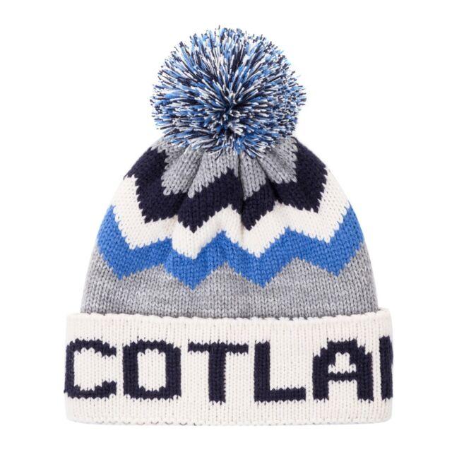 SCOTTISH SCOTS SCOTLAND SALTIRE BEANIE HAT IN ROYAL BLUE
