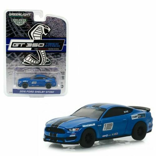 2016 Ford Shelby GT350 Mustang Track Attack Race Car #12 Greenlight Hobby 1:64