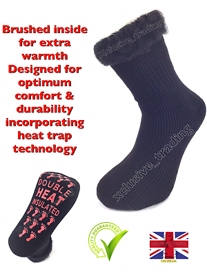 Mens Ultimate Thick Hot Winter Warm Thermal Socks Heat 2.3 Tog Heavy Duty Black Reine WeißE