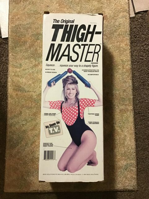 Vintage The Original Thigh Master Exerciser Suzanne Somers Original Box 1991