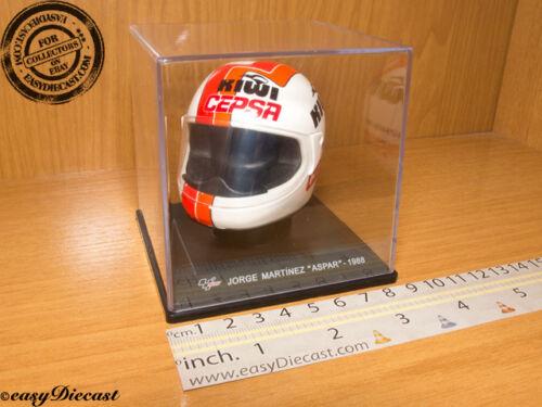 JORGE MARTINEZ ASPAR MOTO-GP KIWI CEPSA HELMET 1//5 1988 CASQUE MICHELIN #5