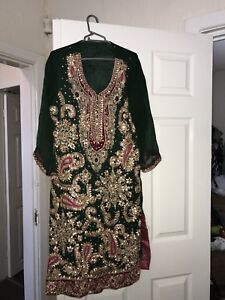 Asian Indian Pakistani Harvey Embroidery Wedding Dress Party Outfit
