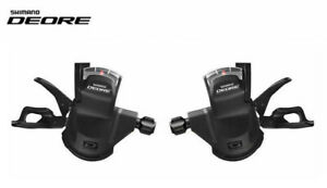 Shimano-Deore-M610-10-x-3-or-10-x-2-Speed-Shifter-Set-Including-Gear-Cables