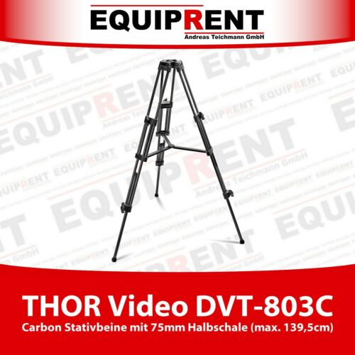 EQT64 THOR Video DVT-803C Carbon Stativbeine mit 75mm Halbkugel Halbschale