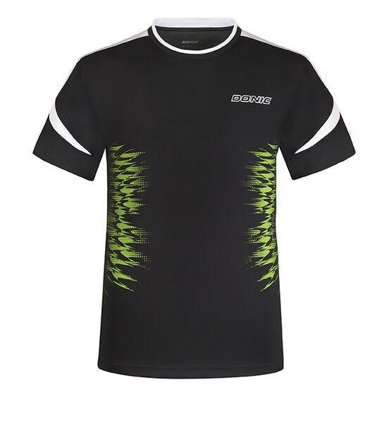 Donic Camiseta Nivel black Transpirable Bádminton tenis de MESA