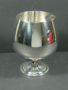 Mid-Century-Oneida-Footed-Cocktail-Pitcher-Snifter-Roly-Poly-Silverplate
