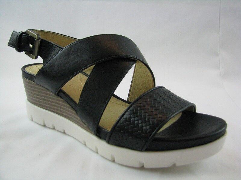 Geox D828AB Damen Sandale in schwarz Leder Gr. 37