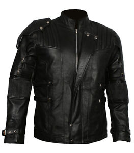 Guardians of the Galaxy 2 Star Lord Chris Pratt Black Leather Jacket Costume