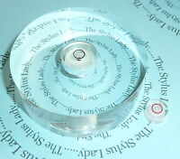 Two turntable spirit bubble levels for setting up tonearms spindle