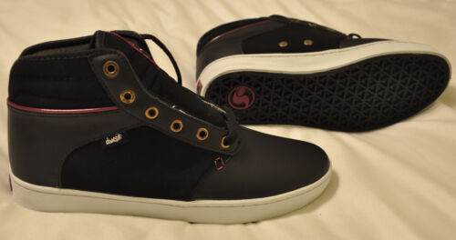 Sizes 7.5-11  BLACK LEATHER DVS KNOX NEW w// FREE SHIPPING Womens Skate Shoes