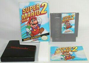 Super Mario Bros 2 NES Nintendo Complete CIB Authentic RARE STAR CODE VARIANT!