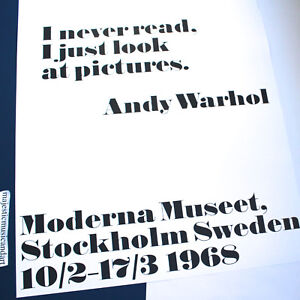 ANDY-WARHOL-I-NEVER-READ-OFFICIAL-SWEDEN-GALLERY-POSTER-MINT-HUGE