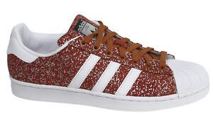 Superstar À S85981 Synthétiques M8 Adidas Originals Rouges Lacets Baskets fE1w56qx