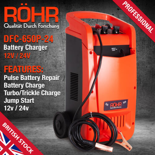 Car Battery Charger Heavy Duty 12V /& 24V Trickle Fast ROHR Vehicle HGV Lorry