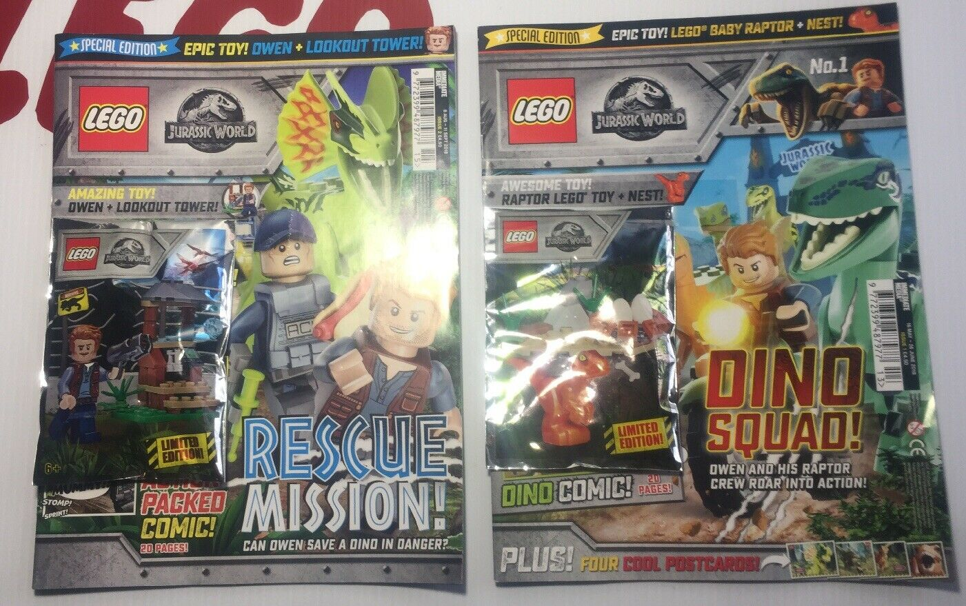 Lego Jurassic World Uk Exclusive Comic Book Issues 1