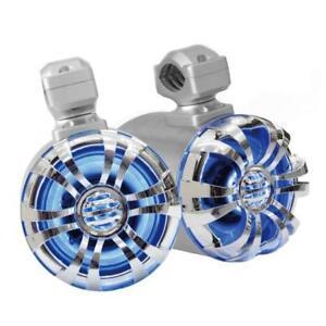 Waterproof-Rated-Marine-Tower-Speakers-w-LED-Lights-6-5-039-039-300-Watt-Pair
