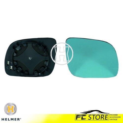 Specchio Specchietto Piastra Vetro Azzurro Destro Termico per Audi A3 A4 A6 A8