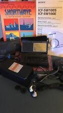 SONY ICF-SW100 LOADED SSB AM FM SHORTWAVE AMATEUR RADIO RECEIVER = ACCESSORIES