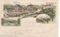 Gruss vom Taunusblick bei Wiesbaden AK 1898 Mehrbild Litho Hessen 1610402