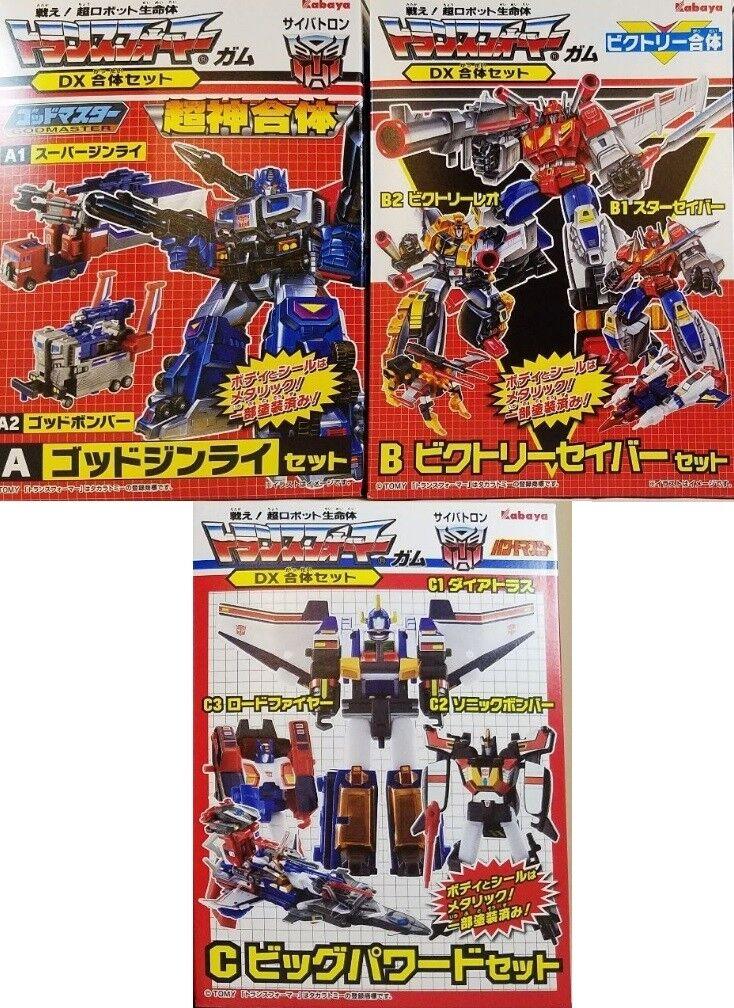 Kabaya Transformers Transformers Transformers Gum DX Gattai God Ginrai Victory Saber Big Powered Set of 3 aa9fc1