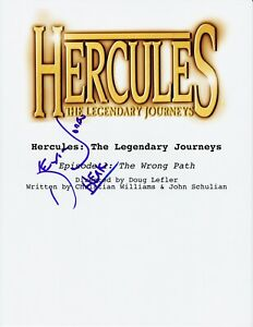 KEVIN-SORBO-SIGNED-HERCULES-THE-LEGENDARY-JOURNEYS-PILOT-SCRIPT-AUTOGRAPH-COA
