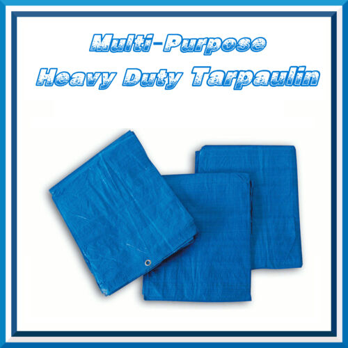 2x3m Blue Strong Tarpaulin Heavy Duty Waterproof Cover Weather Proof Hootch Tarp