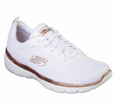 Detalles de Skechers Sport de Mujer Flex Appeal 3.0 Primero Insight Zapatillas Blancas