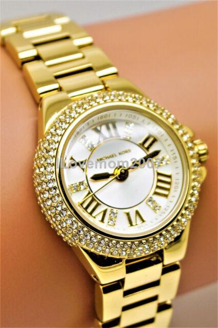 907c93007c11 Michael Kors Petite Camille Gold Stainless Steel Bracelet Watch MK3252 + BOX